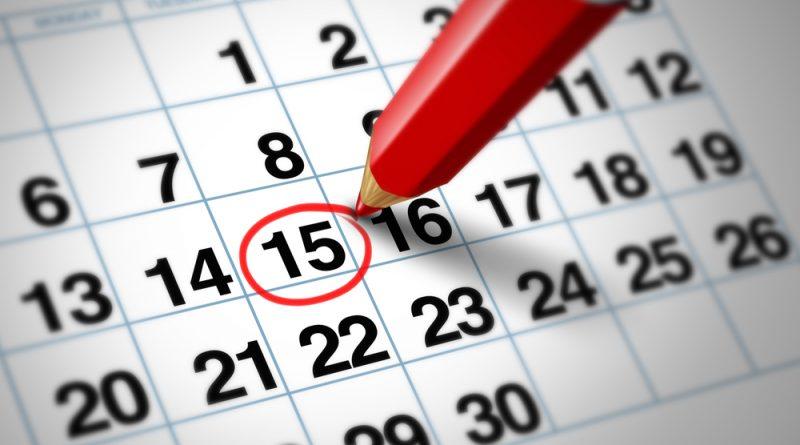 Calendario mese di Marzo 2018