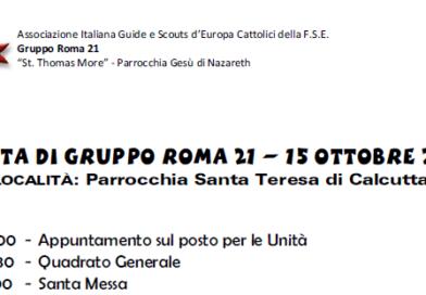 Uscita di gruppo Roma 21